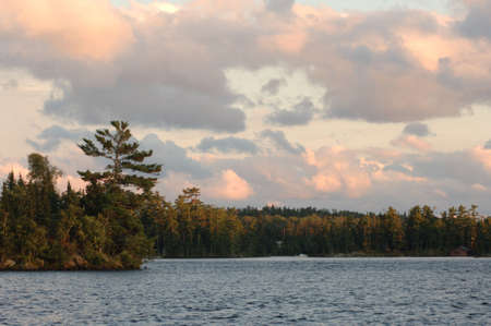 Lake of the Woods with sun setting Stock Photo - 254591