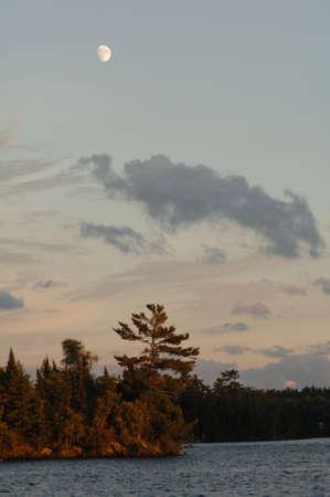 Lake of the Woods at twilight Stock Photo - 254594