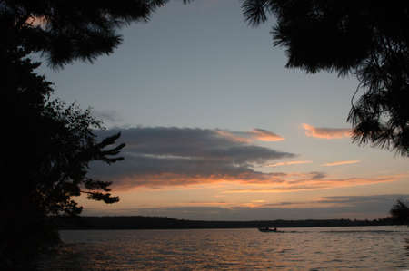 Twilight sky at Lake of the Woods Stock Photo - 254764