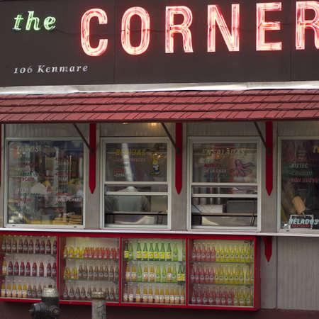 establishment states: The Corner Deli, East Village, New York City