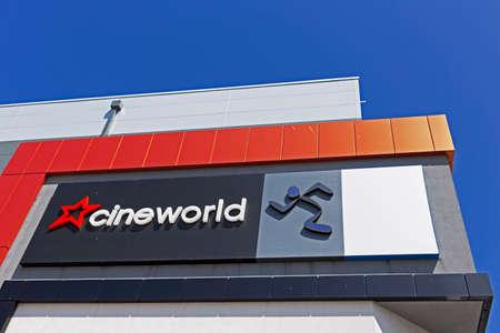 Weston-super-Mare, UK - July 11, 2019: The Cineworld Cinema at Dolphin Square