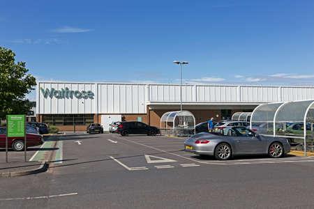 Weston-super-Mare, UK - August 13, 2019: Waitrose supermarket