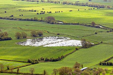 Glastonbury, UK : May 13, 2012: Flooding on the Somerset Levels Sajtókép