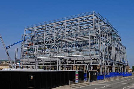 Weston-super-Mare, UK - June 7, 2016: A new Cineworld cinema under construction at Dolphin Square