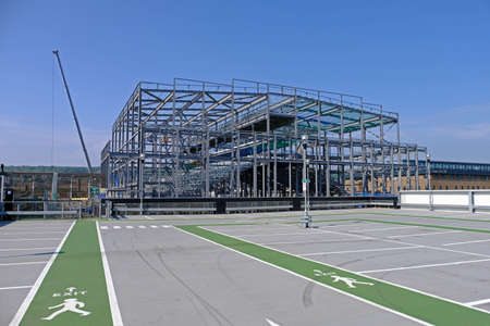 Weston-super-Mare, UK - June 7, 2016: A new Cineworld cinema under construction at Dolphin Square Sajtókép