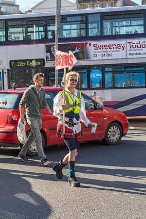 Bristol, UK - October 31, 2015: A participant in the annual Bristol Zombie Walk