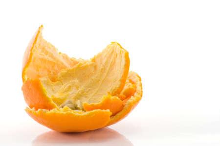 pips: used orange peel and pips after eating orange