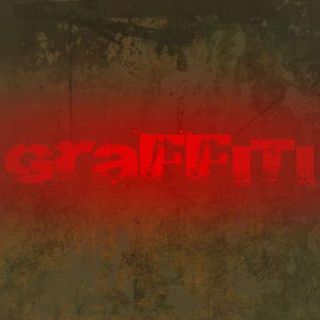 graffiti brown: Fondo aspecto sucio de grunge marr�n con manchas marrones y espacio de texto y copia de graffiti rojo