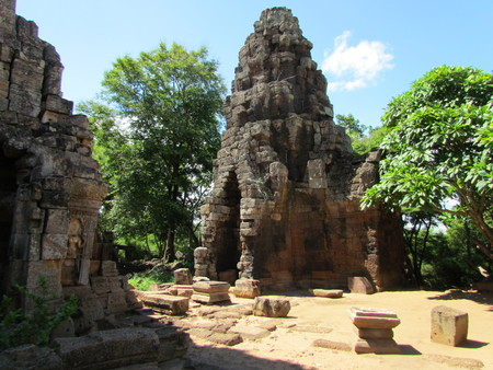 Wat Banan Khmer temple in Battambang Cambodia Stock Photo