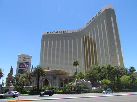 Las Vegas Nevada USA, 21 July 2011: Front view of the Mandalay bay Hotel