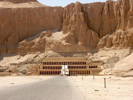 Ancient ruins of Queen Hatshepsut Temple in Luxor Egypt