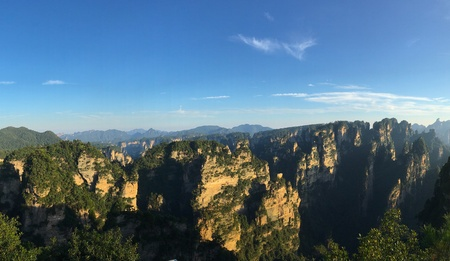 Tianzi Shan mountain panorama- The Avatar mountains , Zhangjiajie National Forest Park, Wulingyuan Hunan province China.