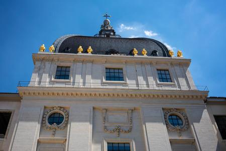 Details of dome of Grand Hotel Dieu after 2018 renovation in Lyon city France