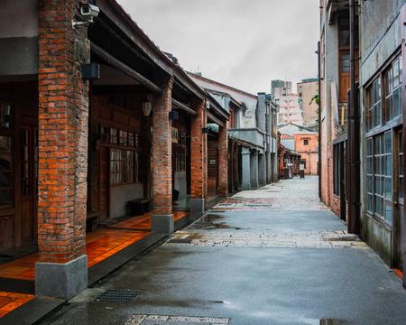View of Bopiliao ancient street in Taipei Taiwan