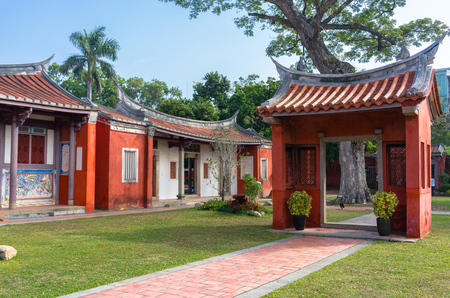 Exterior view of Taiwan Confucian Temple in Tainan 免版税图像