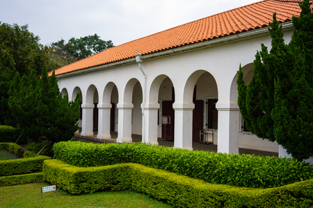 Old colonial house former Tamsui Customs Officers Residence nicknamed Little White House in Tamsui New Taipei Taiwan
