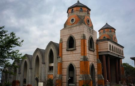 The Grand Chapel at Aletheia in Tamsui district New Taipei Taiwan 版權商用圖片