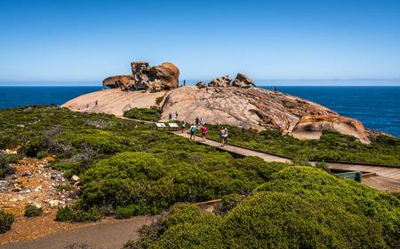 Remarkable rocks panorama view on Kangaroo island in SA Australia