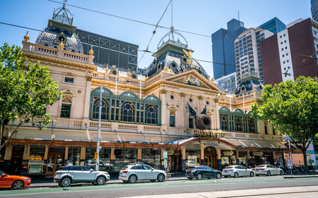 4th January 2019, Melbourne Australia: Princess theatre street view a Victorian heritage building in Melbourne Australia
