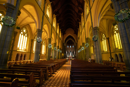 3rd January 2019, Melbourne Australia : Interior view of St Patricks Cathedral a Roman Catholic Cathedral church in Melbourne Victoria Australia