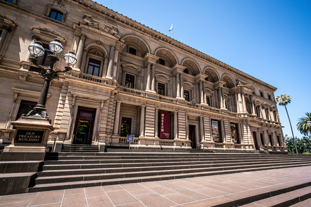 3rd January 2019, Melbourne Australia : Exterior view of the Old Treasury Building now turned into a museum of Melbourne history in Melbourne Victoria Australia