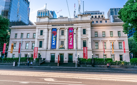 2nd January 2019, Melbourne Australia : exterior view of the Immigration museum in the old customs house building in Melbourne Victoria Australia