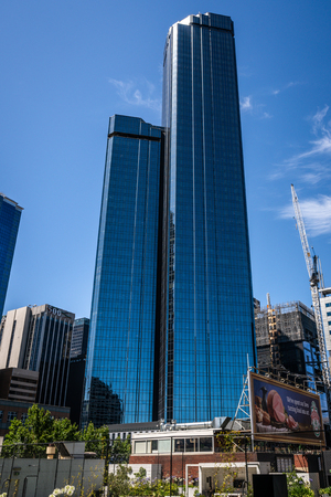 2nd January 2019, Melbourne Australia : Vertical view of the Rialto towers building during daytime an office skyscraper in Melbourne Australia