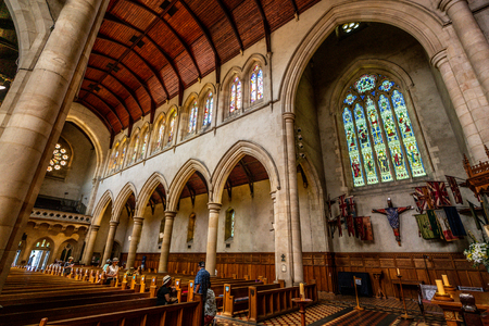31st December 2018, Adelaide South Australia : Interior view of St. Peter's Cathedral church in Adelaide SA Australia 写真素材 - 119558102