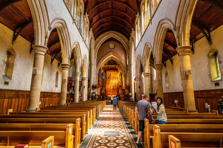 31st December 2018, Adelaide South Australia : Interior view of St. Peters Cathedral church in Adelaide SA Australia