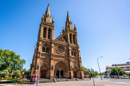 31st December 2018, Adelaide South Australia : Front view of St. Peters Cathedral facade an Anglican cathedral church in Adelaide SA Australia