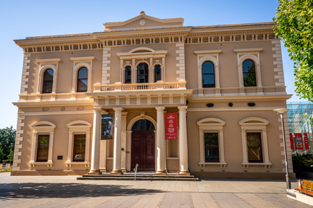 30th December 2018, Adelaide South Australia : Front facade view of the State Library of South Australia in Adelaide SA Australia