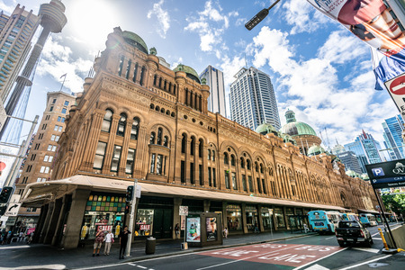 23rd December 2018, Sydney NSW Australia : Exterior view of Queen Victoria Building or QVB shoppping arcade in Sydney NSW Australia 写真素材 - 119558168