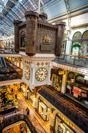 23rd December 2018, Sydney NSW Australia : View of the Royal clock inside the QVB in Sydney NSW Australia