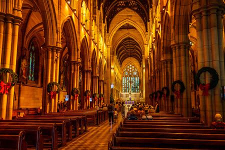 23rd December 2018, Sydney NSW Australia : Interior view of St Mary's Cathedral in Sydney NSW Australia 写真素材 - 119558177