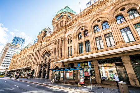23rd December 2018, Sydney NSW Australia : Exterior view of Queen Victoria Building or QVB shoppping arcade in Sydney NSW Australia