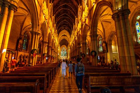 23rd December 2018, Sydney NSW Australia : Interior view of St Mary's Cathedral in Sydney NSW Australia 写真素材 - 119558185