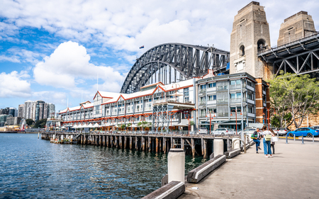 22nd December 2018, Sydney NSW Australia : Pier One view in Sydney with the Harbour bridge in background in NSW Australia