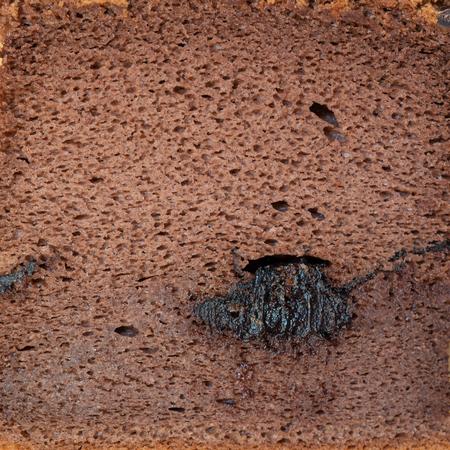 Chocolate Sponge cake macro square shot with texture 写真素材 - 123338338
