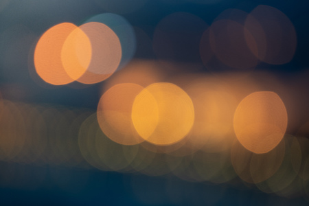 Bokeh background with round orange and blue colour 写真素材