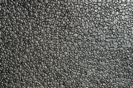 Black metalic polystyrene foam full frame macro shot background 写真素材 - 123339835
