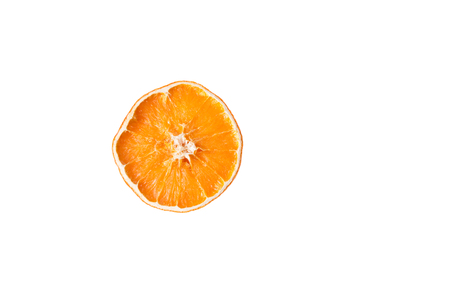 one damaged orange isolated on white background