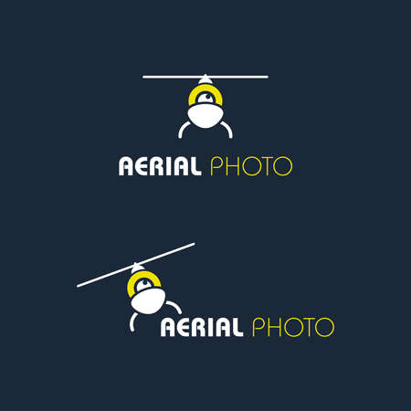 Vector icon for the company, which produces aerial photos and videos