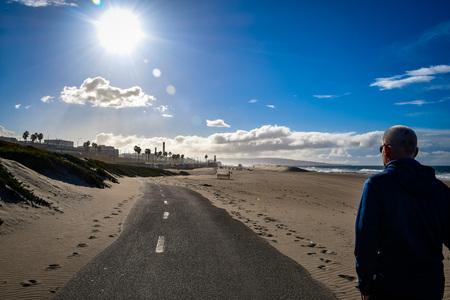 walk on the beach Фото со стока