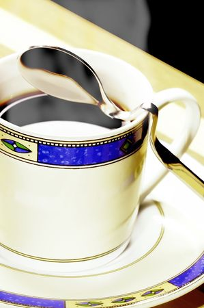 cup of black steamy coffee Stock Photo - 2638858
