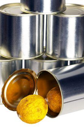 expired: expired lemon  over white background Stock Photo