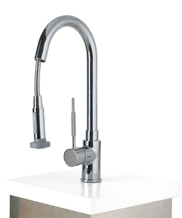 modern dsign water faucet tap over white Stock Photo - 4068288