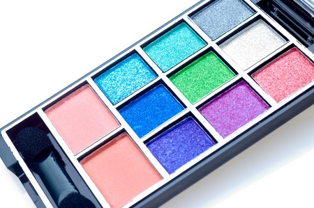 colorfull make up palette square shade set