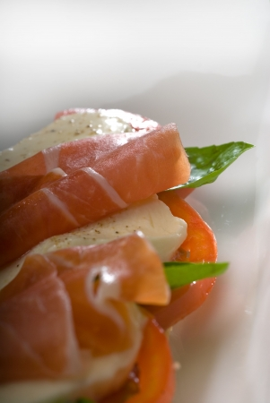 sandwich with  caprese and parma ham photo