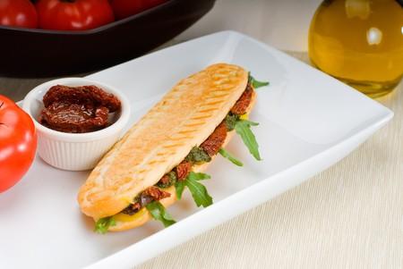 fresh homemade panini sandwich ,typical italian snack Stock Photo - 7899366