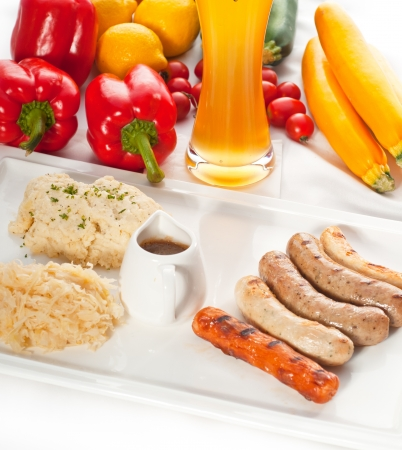 selection of all main type of german wurstel saussages Stock Photo - 20311105